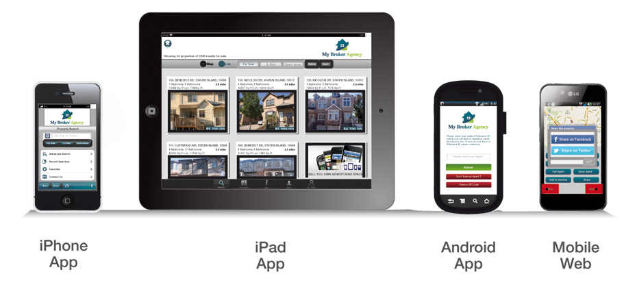 Mobile Apps supplied to over 550 Estate Agents
