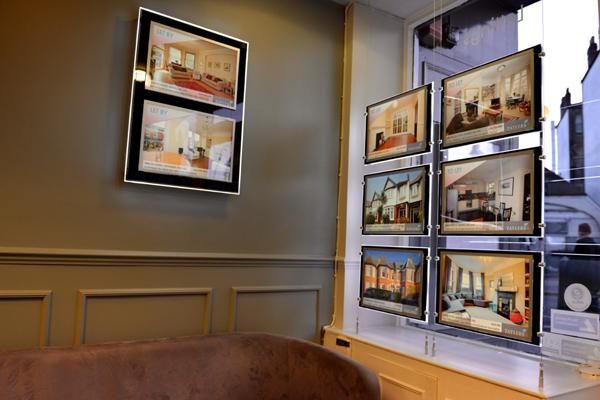 highly custom display design at tatlers estate agent