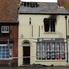 Blaze shuts down estate agent's office
