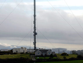 Shh! Just don't mention the 350-foot TV mast by the back door