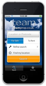 Team launches its own property search app